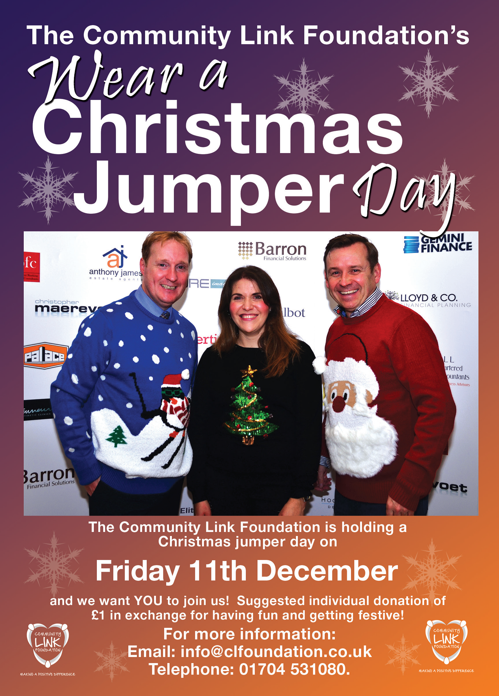 681e96ac456 Christmas Jumper Day 11th December | Making a positive difference!